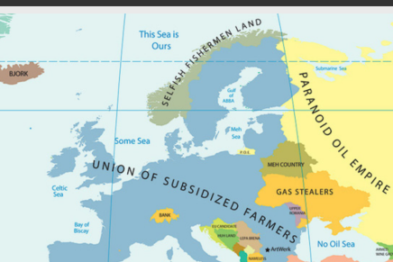 Maps of sterotypes about Europeancontires.