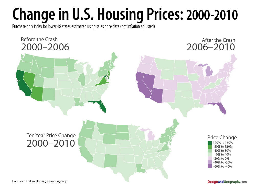 Housing Price Index For The United States Design - House pricing in us map