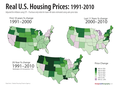 Housing Map inflation adjusted