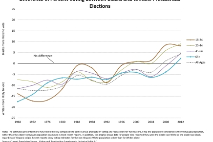 Voter turnout history by Race and Age