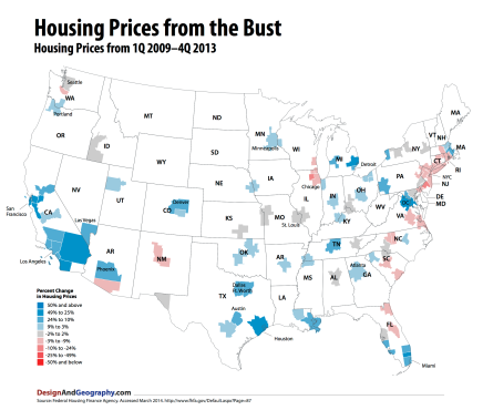 Aftermath! What happing to Urban Housing prices after the housing bubble crashed?