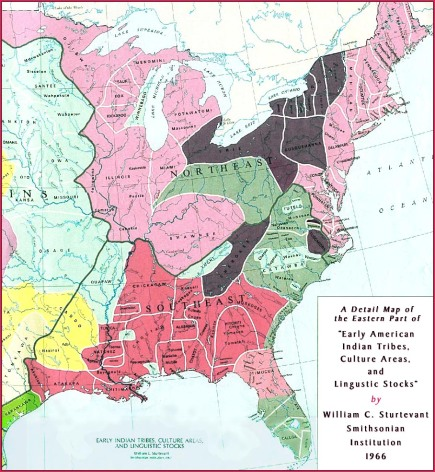 Lanauage Group Map of American Indians