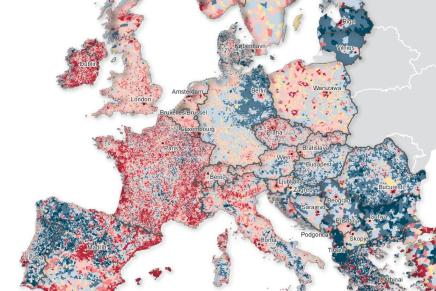 Population Change Map of Europe